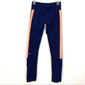 Ivivva Navy Blue rhythmic tight/legging Sz 14 B78